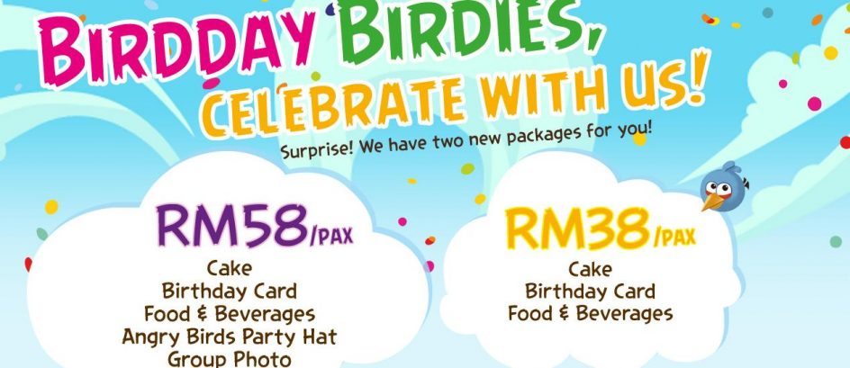 ANGRY BIRDS BIRTHDAY PARTY PACKAGES (PROMOTION)